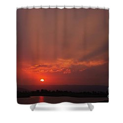 Sunset Over Hope Island 2 Shower Curtain