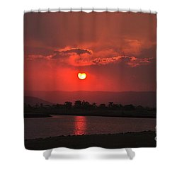 Sunset Over Hope Island Shower Curtain