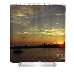 Sunset Over Jetty Point Shower Curtain