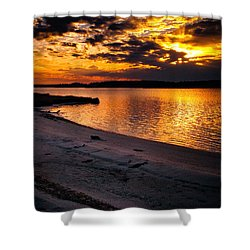 Sunset Over Little Assawoman Bay Shower Curtain