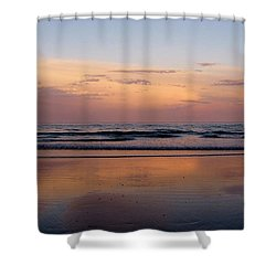 Sunset Over Long Sands Beach II Shower Curtain