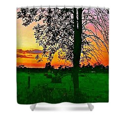 Shower Curtain featuring the photograph Sunset Over M-33 by Daniel Thompson