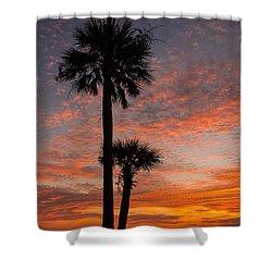 Sunset Over Marsh Shower Curtain