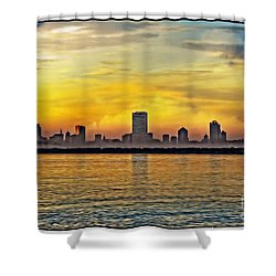 Sunset Over Milwaukee Shower Curtain