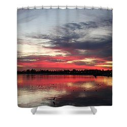 Sunset Over Mission Bay  Shower Curtain