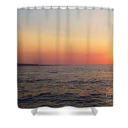 Shower Curtain featuring the photograph Sunset Over Montauk by John Telfer