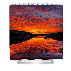 Sunset Over Morgan Creek - Wild Dunes Resort Shower Curtain