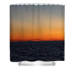 Shower Curtain featuring the photograph Sunset Over Point Lookout by John Telfer