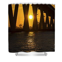 Sunset Over Sanibel Island Photo Shower Curtain
