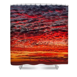Sunset Over Saunder's Reef Shower Curtain
