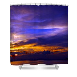 Sunset Over Sea Shower Curtain by Kaleidoscopik Photography