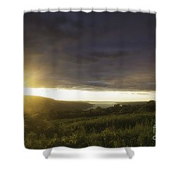 Sunset Over Skaneateles Shower Curtain