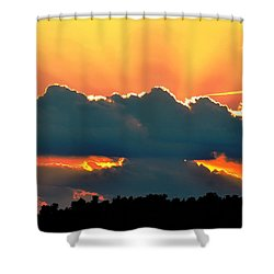 Sunset Over Southern Ohio Shower Curtain