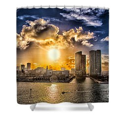 Sunset Over The Arena Hdr Shower Curtain