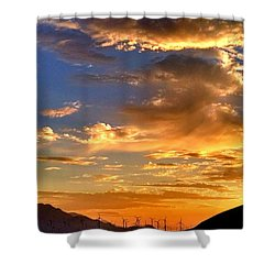 Shower Curtain featuring the photograph Sunset Over The Pass by Chris Tarpening