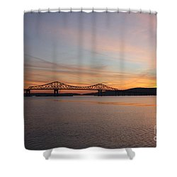 Sunset Over The Tappan Zee Bridge Shower Curtain