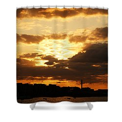 Sunset Over The Thames From Greenwich Shower Curtain