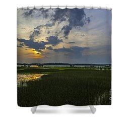 Sunset Over The Wando Shower Curtain