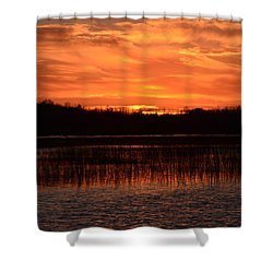Sunset Over Tiny Marsh Shower Curtain