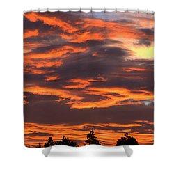 Sunset Shower Curtain by Pamela Walton