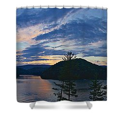 Sunset Pano - Watauga Lake Shower Curtain