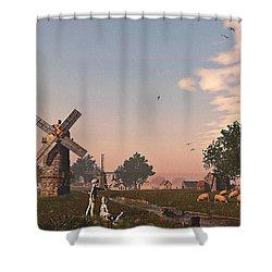 Sunset Play Shower Curtain by Ken Morris