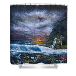 Sunset Reef Shower Curtain by John Garland  Tyson