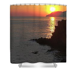 Shower Curtain featuring the photograph Sunset Reflection by Natalie Ortiz