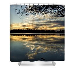 Shower Curtain featuring the photograph Sunset Reflection by Yulia Kazansky