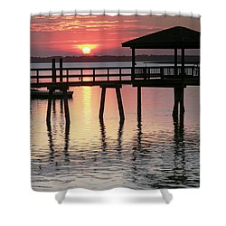 Sunset Reflections Shower Curtain by Phill Doherty