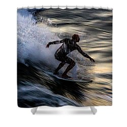 Sunset Ride 2 Shower Curtain by John Daly