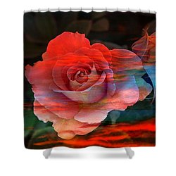 Sunset Rose Shower Curtain