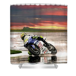 Sunset Rossi Shower Curtain