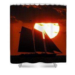 Key West Sunset Sail 5 Shower Curtain
