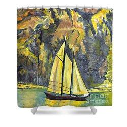 Sunset Sail On Lake Garda Italy Shower Curtain by Carol Wisniewski