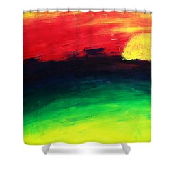 Shower Curtain featuring the painting Sunset by Salman Ravish
