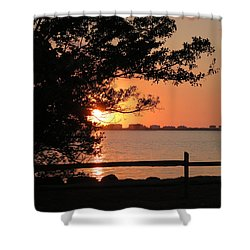 Sunset On Sarasota Harbor Shower Curtain