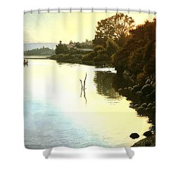 Sunset  Sea Of Galilee  Israel Shower Curtain by Graham Braddock