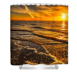 Sunset Seascape Shower Curtain by Adrian Evans