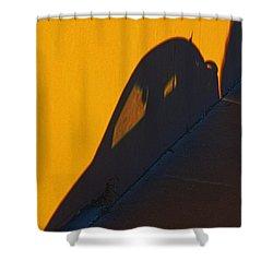 Shower Curtain featuring the photograph Sunset Shadow Car by John Hansen