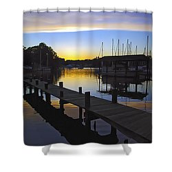 Shower Curtain featuring the photograph Sunset Silhouette by Brian Wallace