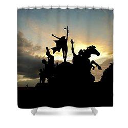 Sunset Silhouette Shower Curtain