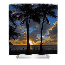 Sunset Silhouettes Shower Curtain by Lynn Bauer
