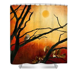 Sunset Sitting Shower Curtain by Lourry Legarde