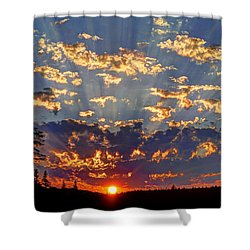 Sunset Spectacle Shower Curtain