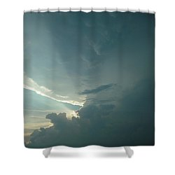 Sunset Supercell Shower Curtain by Ed Sweeney