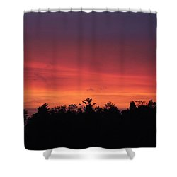 Sunset Tones Shower Curtain