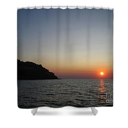 Shower Curtain featuring the photograph Sunset by Vicki Spindler
