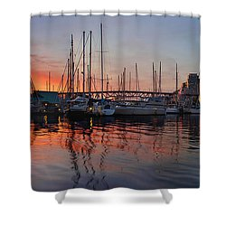 Shower Curtain featuring the photograph Sunset View From Charleson Park In Vancouver Bc by JPLDesigns