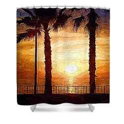 Sunset Walk Shower Curtain by Kirt Tisdale